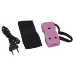 Poing electrique police security rechargeable + led - Coloris Rose